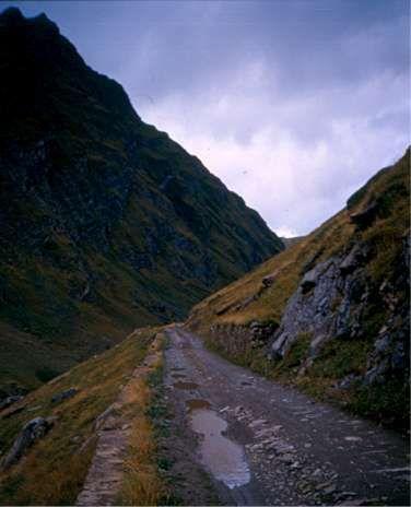 La strada militare di Chavannes nel 1997