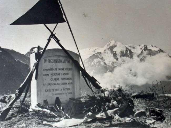 Giugno 1940, i primi caduti dell'Aosta al colle del Piccolo San Bernardo.