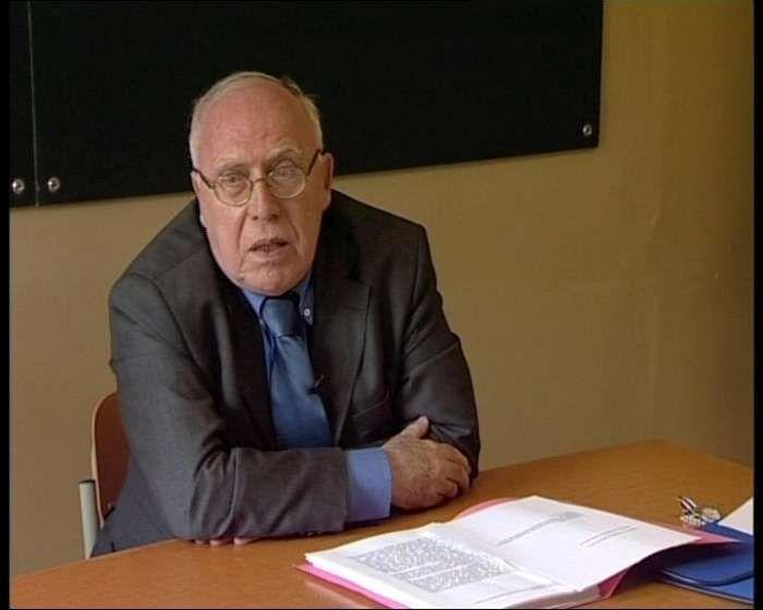 Master Aoste-Sorbonne, le Recteur Charles Zorgbibe