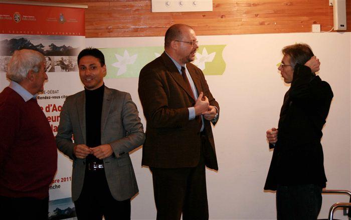Pierino Jocollé, Laurent Viérin, Alessandro Celi, Olivier Forlin, Valsavarenche, novembre 2011