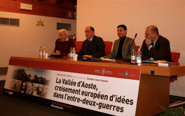 Pierino Jocollé, Augusto Rollandin, Laurent Viérin, Alessandro Celi, Valsavarenche, novembre 2011