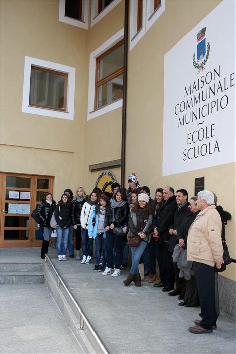 Dévoilement de la plaque à la mémoire de Federico Chabod, Valsavarenche, novembre 2011