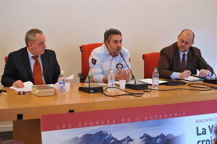 Stefano Bruno Galli, Marco Cuaz et Alessandro Celi, Valsavarenche, novembre 2011