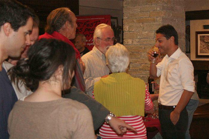 Laurent Viérin, accueil des délégations des Peuples frères, Valsavarenche