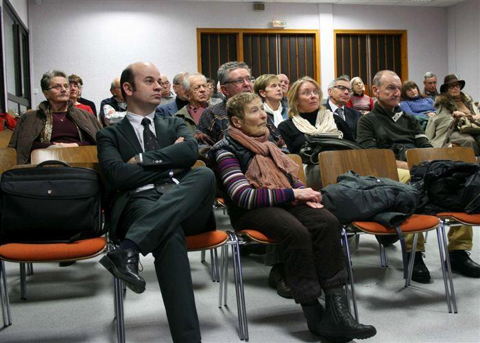 Le public du centre Jean-XXIII d'Annecy-le-Vieux qui nous accueillait