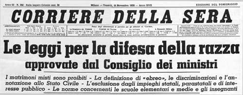 Corriere della Sera, 11/11/1938