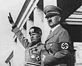 Benito Mussolini e Adolf Hitler a Roma nel 1938