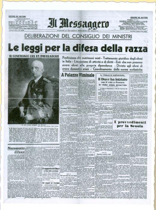 Il Messaggero, 11/11/1938