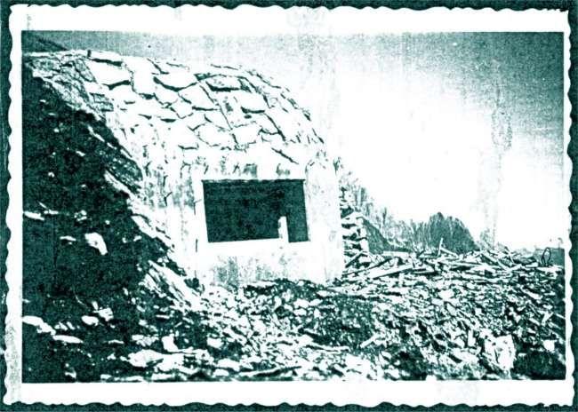 Centro di fuoco 1 al colle della Seigne nel 1933