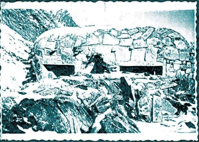 Centro di fuoco 4 al colle della Seigne nel 1933