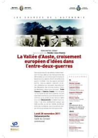 La Vallée d'Aoste, croisement d'idées dans l'entre-deux-guerres
