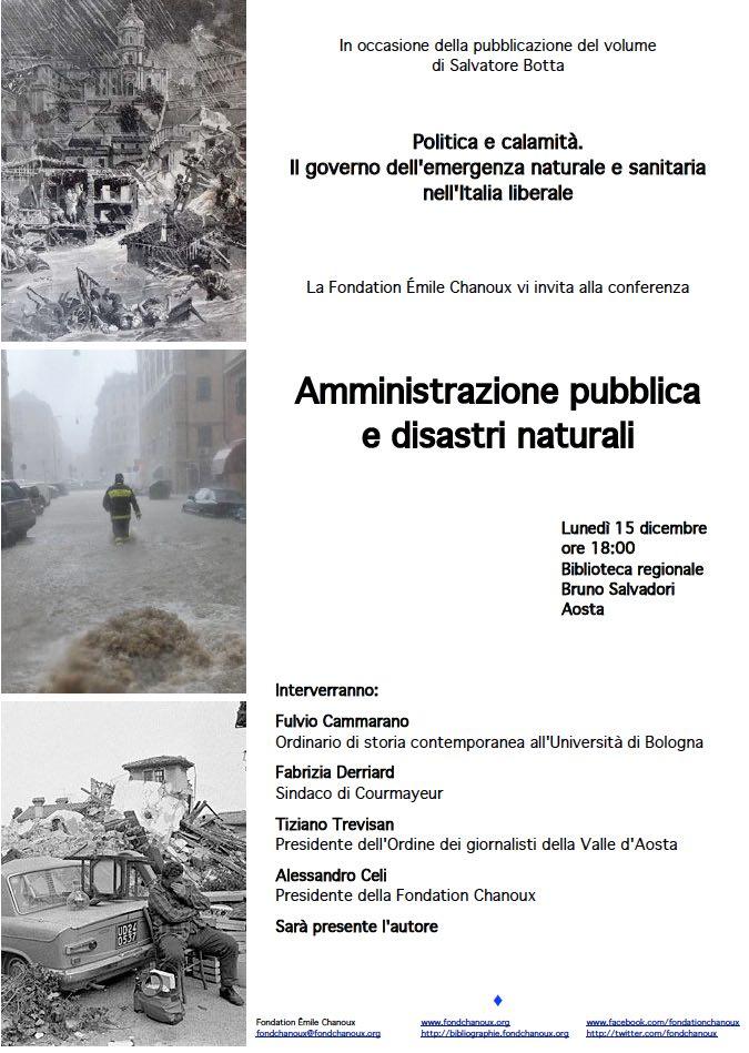 Amministrazione pubblica e disastri naturali