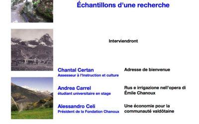 Émile Chanoux: eaux, rus, pâturages
