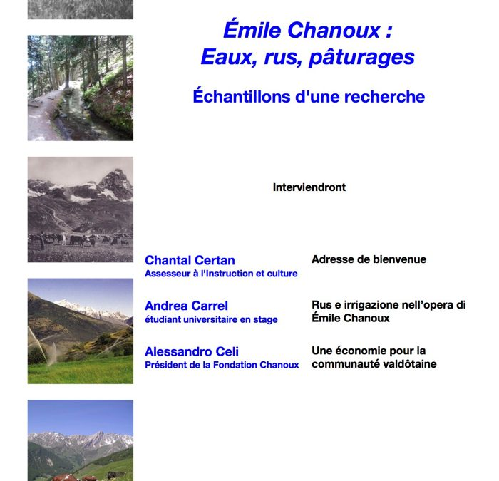 Émile Chanoux : eaux, rus, pâturages