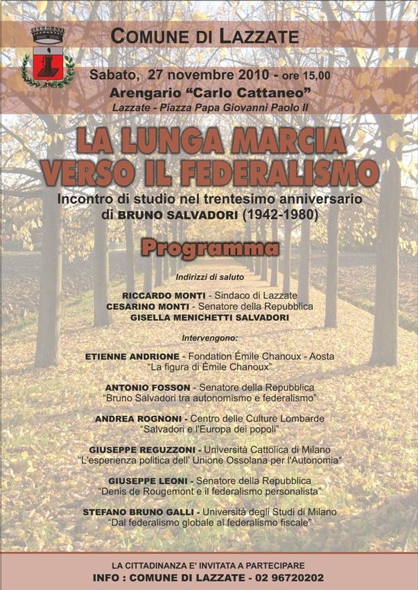 La lunga marcia verso il federalismo