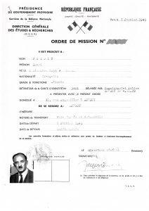Ordre de mission de Henri Voisin