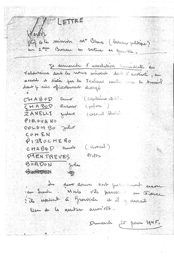 Demande d'arrêter les frères Chabod et 7 autres valdôtains