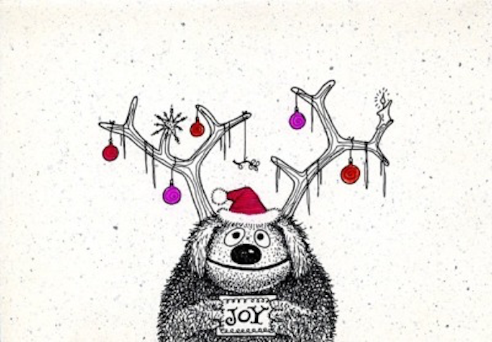 Christmas card by Jim Henson